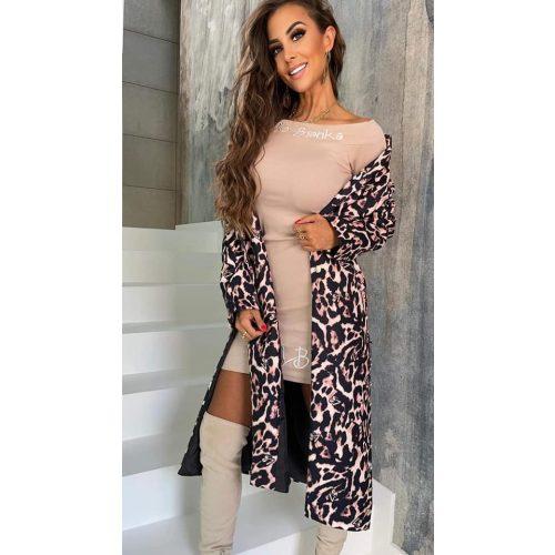 LOLA BIANKA leopárd mintás kabát