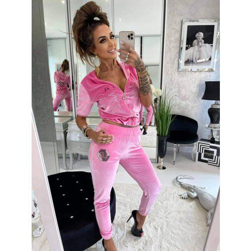 LUXURY LOLA pink szabadidő szett