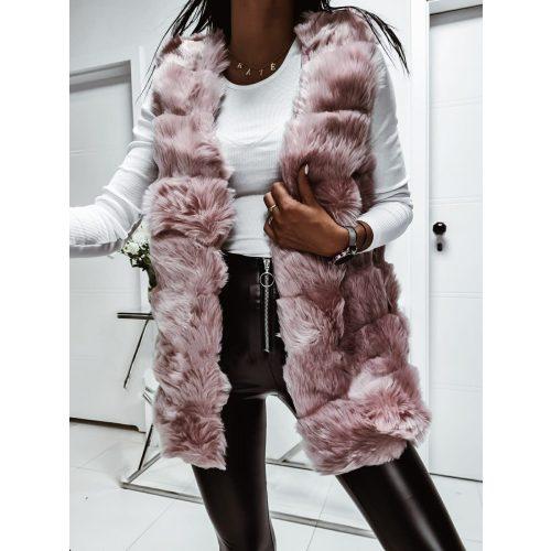 Pink szőrme mellény